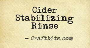 Cider Stabilizing Rinse