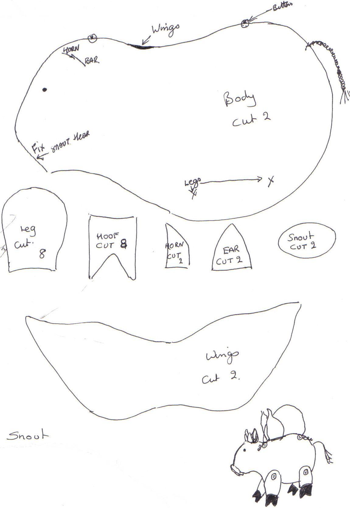 Flying Pig Hangup Plushie — craftbits.com