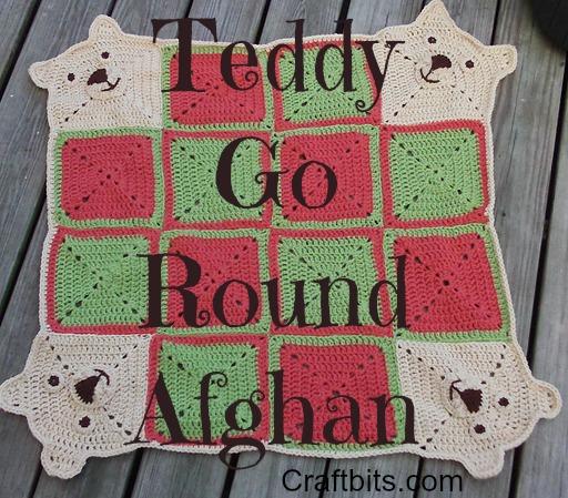 Teddy Go Round Afghan
