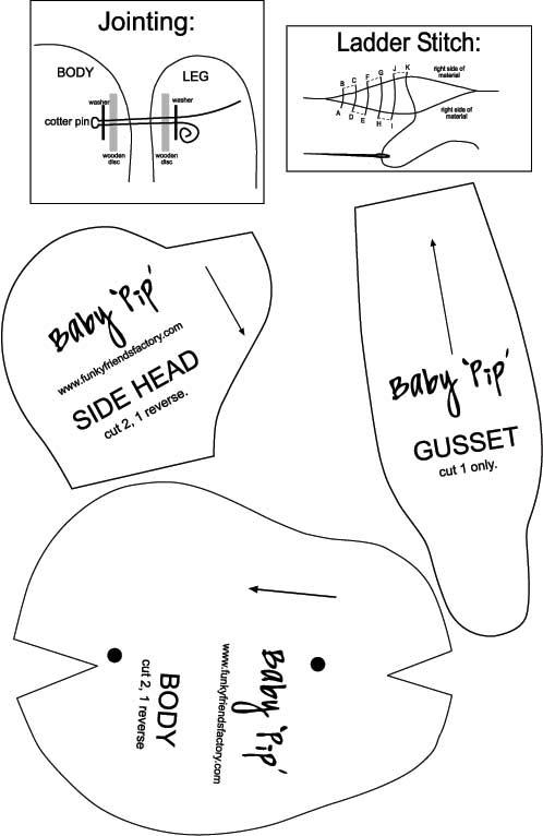Baby Pip Teddy Bear — CraftBits.com