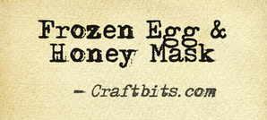 Frozen Egg & Honey Mask