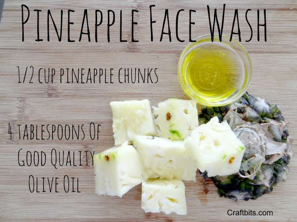 Pineapple Face Wash Recipe