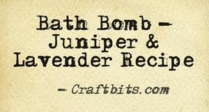 Bath bomb juniper lavender recipe