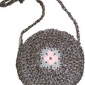 Recycled Round Motif Purse