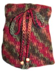 Irma's Felted Drawstring Bag