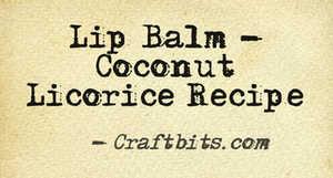 coconut licorice recipe