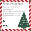 Magic Reindeer Food Poem