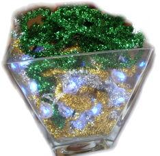 Lighted Christmas Vase