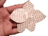 Vintage Retro Paper Flower
