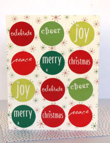 Christmas Card – Circle Stickers