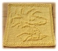 Knitted Dishcloth With Woody from Peanuts