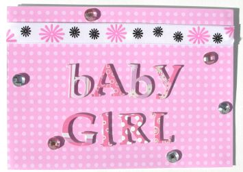 DIY Baby Girl Rhinestones Card
