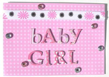 DIY Baby Girl Rhinestones Card