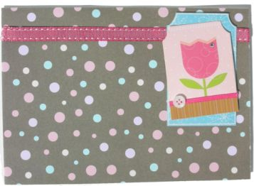 Brown And Pink Tulip Card