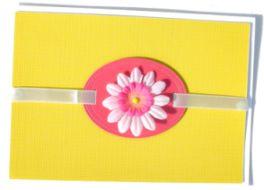 Simple Daisy Embellishment Card