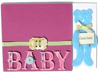 Little Felted Baby Card Idea