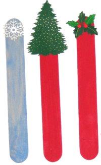 Christmas Craft Stick Bookmarks