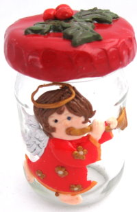Polymer Clay – Trumpet Angel Jar