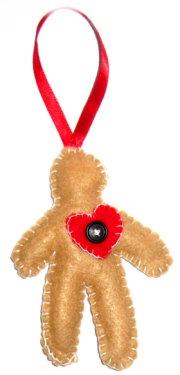 Tree Ornament Idea: Felt Gingerbread Man