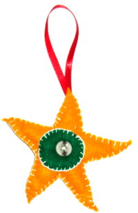 Felt Star Tree Ornament