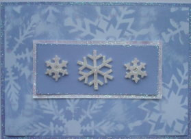 Christmas Card: Blue Snowflakes