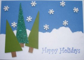DIY Christmas Card: Happy Holidays