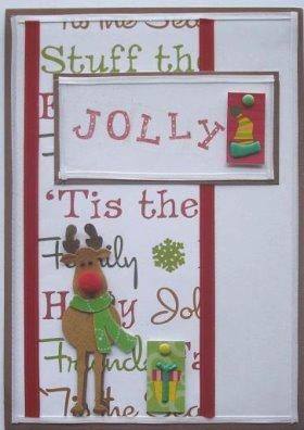 Christmas Card: Jolly Rudolph Card