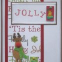 Christmas Card: Jolly Rudolph Card