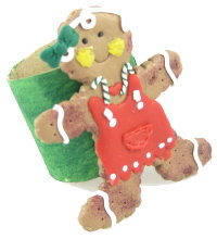 Polymer Clay – Gingerbread Man Napkin Ring