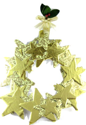 Wreath With Paper Stars