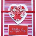 Valentines Card - Button Heart