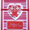 Valentines Card - Button Heart