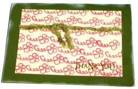 Thank You – Green Swirls Card
