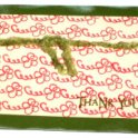 Thank You - Green Swirls Card