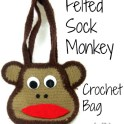 Felted Sock Monkey Bag