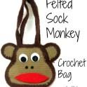 Felted Sock Monkey Bag