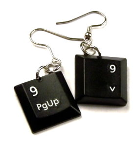 Computer Keyboard Earrings
