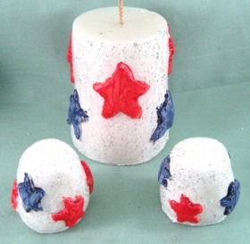 4th Of July Sugar Cone Candles