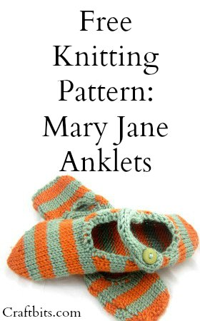 Knitted Mary Jane Anklets Slippers