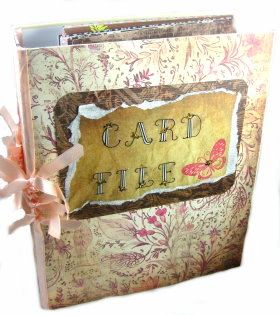 Altered File Folder – Birthday Card Organizer