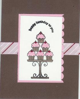 Cardmaking – Cupcake Card
