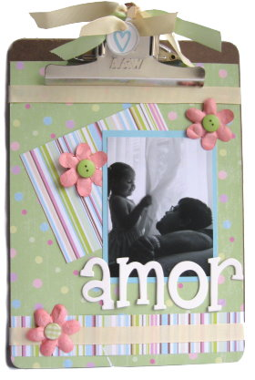 Altered Scrapbook Clipboard