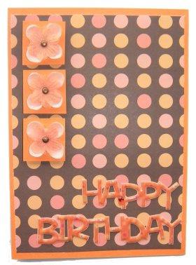 Card Making – Flower Birthday Card