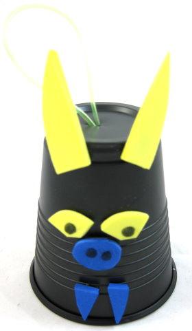 Plastic Cup Hanging Bat
