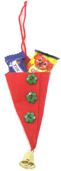 Tree Ornament Idea: Felt Candy Cone