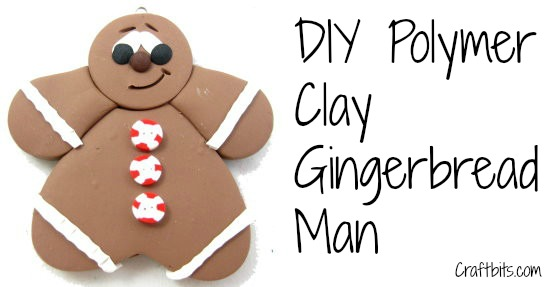 Gingerbread Man Made Of Polymer Clay