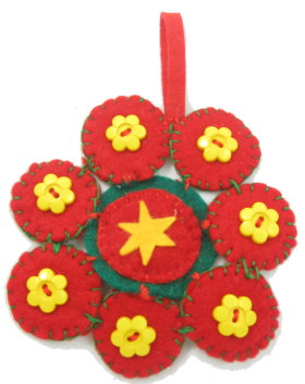 Red Snowflake Christmas Tree Ornament