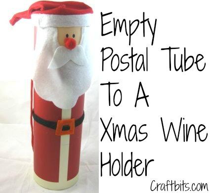 Santa Wine Bottle Tube