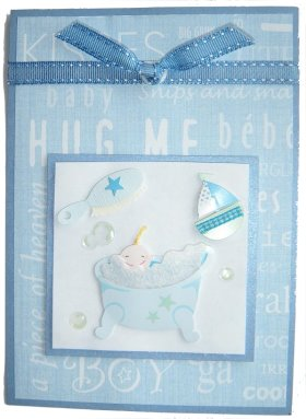 Baby Boy Hug Me Card