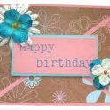 Flowered Happy Birthday Card